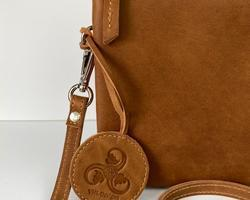 Touristbag large in cognac leather